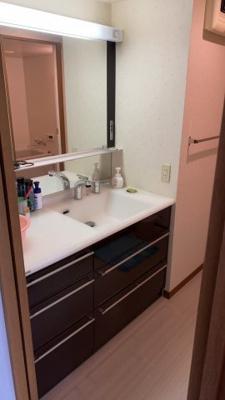 洗面スペースも広々