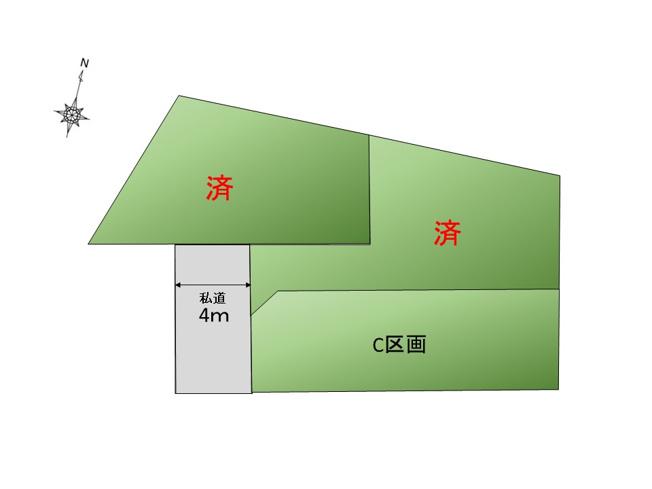 【区画図】京王線「千歳烏山」駅徒歩7分 新築戸建