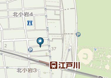 【地図】シャムロック北小岩