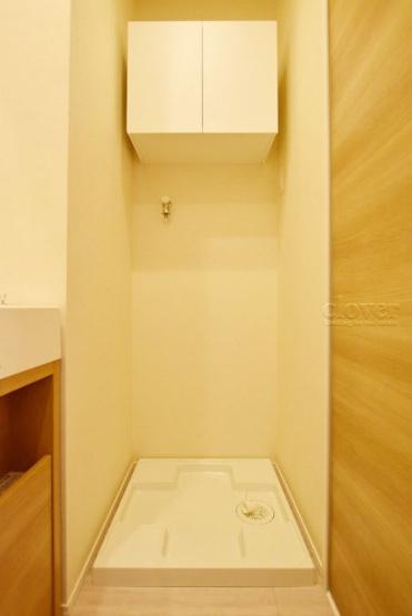 防水パン(洗濯機置き場) 上部収納付き