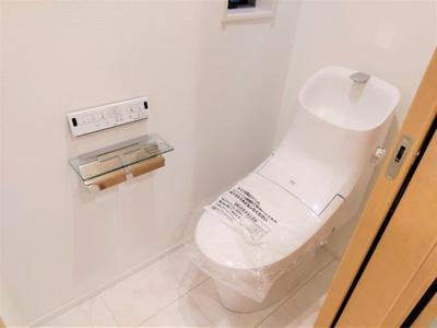 しっかりと温水洗浄便座です。