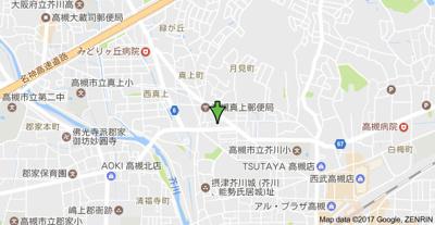 【地図】ジョイフルコーポ真上 (株)Roots