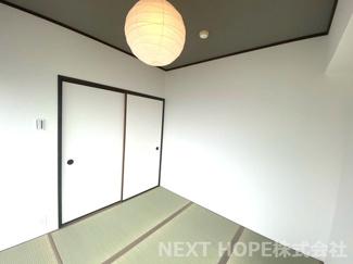 和室4.5帖です♪南向きバルコニーに面した明るく開放的な室内です!室内は令和3年7月リフォーム済み♪お手入れ無しで即ご入居していただけます(^^)
