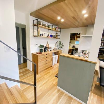 こんな素敵なキッチンだとお友達を招いてお家カフェしたくなりますね♪
