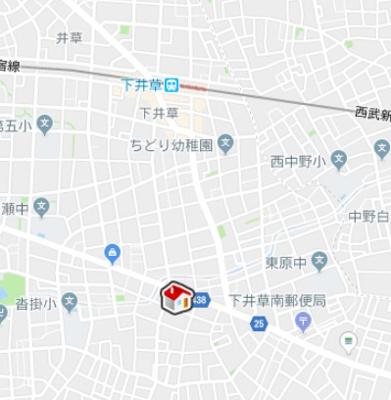 【地図】レオパレス本天沼ET (47523-106)