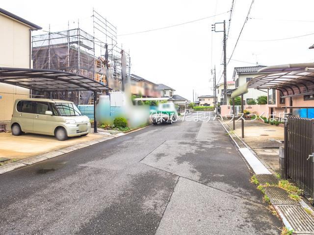 【前面道路含む現地写真】つくばみらい市谷井田3期 新築戸建