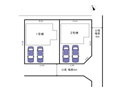 【区画図】姫路市飾東町佐良和/全2棟