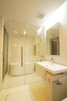 ホテルのような特別感のある洗面所です ※新築時写真