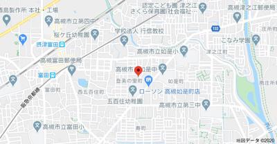 【地図】登美の里町貸家 (株)Roots