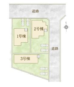 【区画図】高崎市筑縄町 8期 新築戸建 1号棟(全3棟)