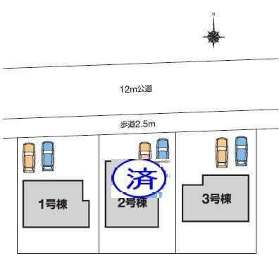 【区画図】高崎市中泉町 3号棟