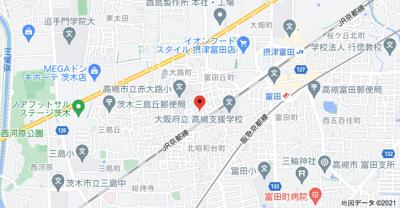 【地図】富田丘テラスハウス