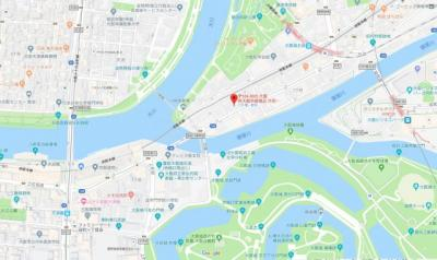 【地図】ラ・フォルム天満橋EAST
