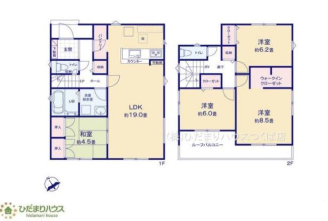 8.5帖の主寝室!十分な広さがあるので、大切なプライベート空間を素敵に演出できます♪