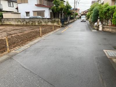 【前面道路含む現地写真】春日部市花積土地