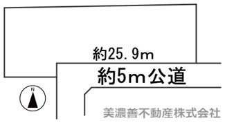 【区画図】56944 山県市梅原土地