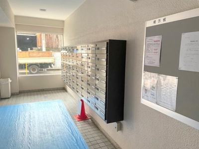 郵便受けスペース。