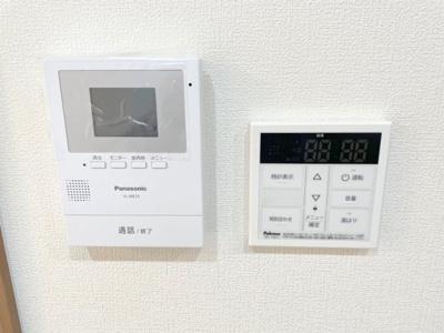 給湯設備と安心のTVモニタ付きインターホン。