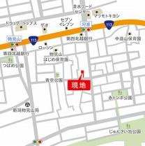 【地図】中古戸建 新潟市東区物見山3丁目