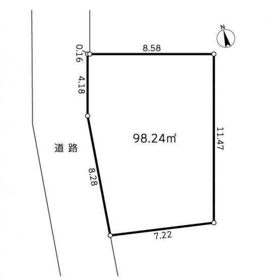 【土地図】売地 茅ヶ崎市中海岸4丁目