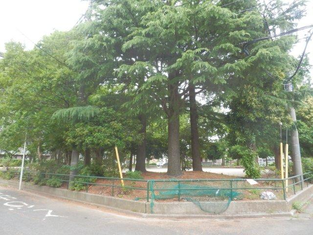 ゴミステーションは隣公園角地にあります。