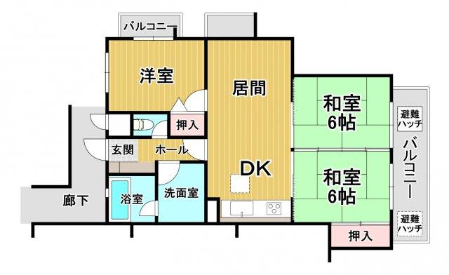早良区南庄4丁目 中古マンション3LDK 1階