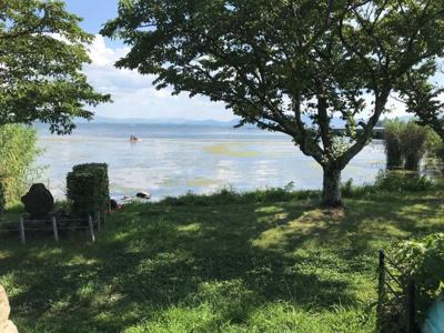 徒歩50m先に琵琶湖