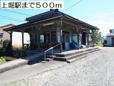 上堀駅まで500m