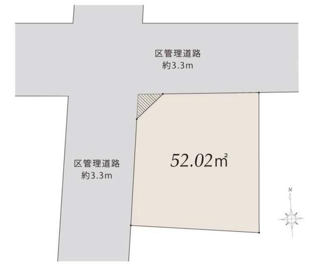 【区画図】仲介手数料無料 中野区中央1丁目 新築一戸建て
