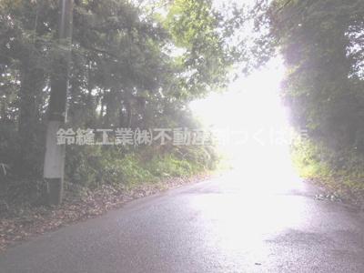 【前面道路含む現地写真】つくば市谷田部土地(山林)