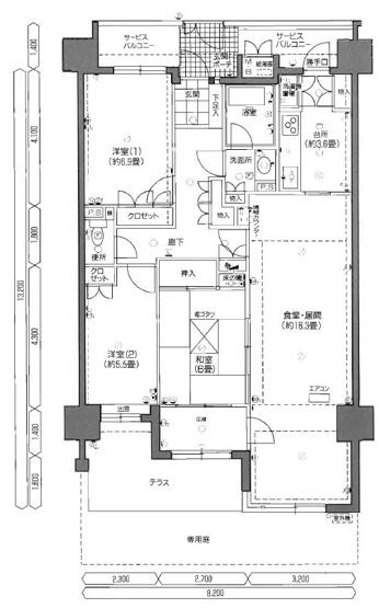 西区愛宕浜2丁目 中古マンション 3LDK 1階