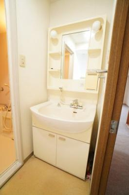 【コスメカウンター】 フラット鏡がお掃除し易い3面鏡洗面化粧台を導入して欲しい! 鏡後ろ・下にも大容量の収納! 日常的に使う物も洗剤の詰替えなども スッキリ収納。温水シャワー機能付き予定