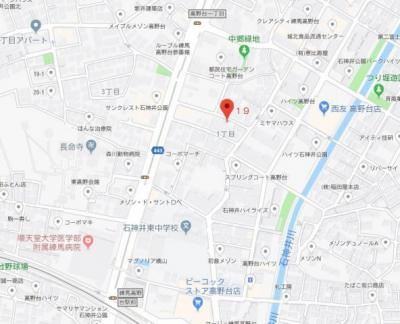 【地図】フィオーレ高野台