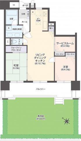 西区愛宕浜2丁目 中古マンション 弐番館 2SLDK