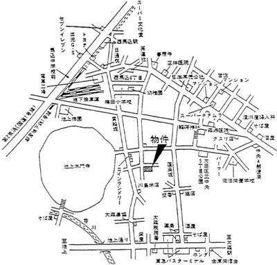 【地図】ドルフィン本門寺