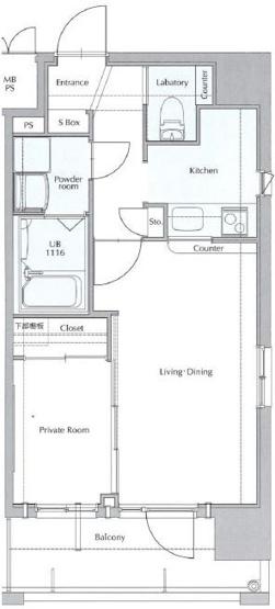 早良区西新1丁目 中古マンション 1LDK 11階
