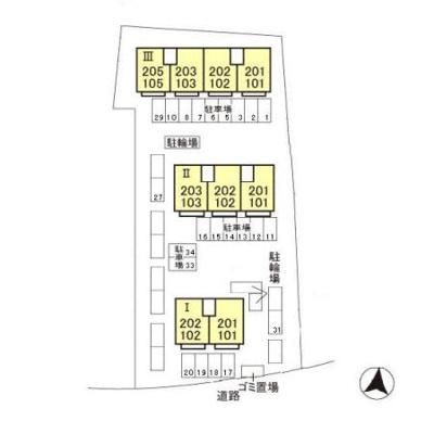 【区画図】エステートU Ⅲ