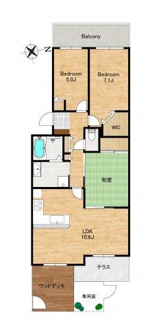 ◇Floor Plan◇充分な収納スペースを造作。シンプルですっきりとした暮らしが実現できます。