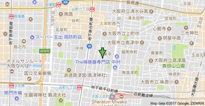 【地図】LaCASA上本町