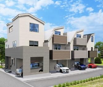 【完成予想図】北区志茂5丁目 新築戸建 C号棟 5380万円