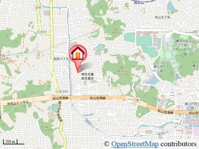 【地図】フレグランスみぶ