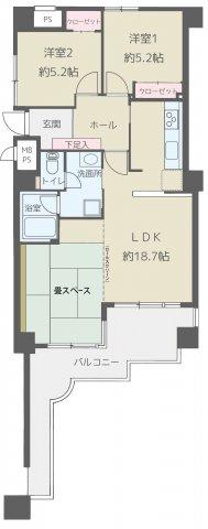 早良区原8丁目 中古マンション2LDK 2階