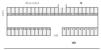 【区画図】めじろ台駐車場