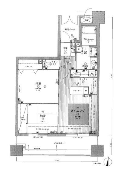 城南区鳥飼4丁目 中古マンション2LDK 4階
