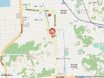【地図】ウエストフィールドG棟