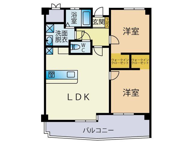 南区井尻2丁目 中古マンション2LDK 5階