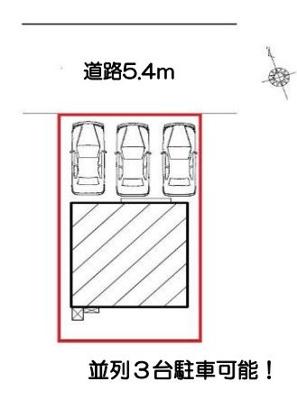 【区画図】豊川市東光町2丁目 新築一戸建て FF