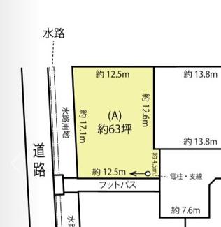【土地図】鴻巣市箕田の売地 A区画