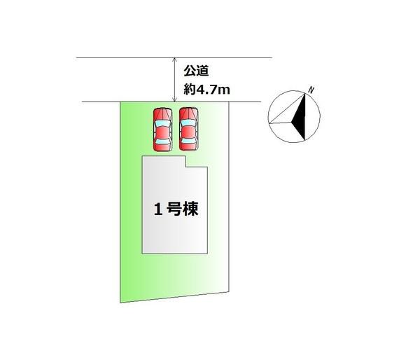 【区画図】 限定1棟・カースペース2台分♪