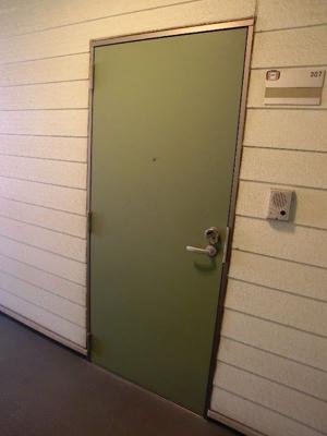 グリーンベルハイツ 307 グリーンが鮮やかな扉